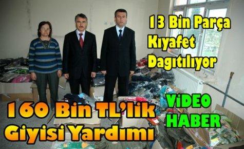 160 Bin TL'lik,13 Bin Parça Giyim Yardımı(VİDEO)