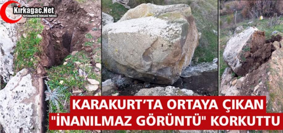 """KARAKURT'TA ORTAYA ÇIKAN """"İNANILMAZ GÖRÜNTÜ"""" KORKUTTU"""