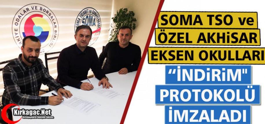 """SOMA TSO ve ÖZEL AKHİSAR OKULLARI """"İNDİRİM"""" PROTOKOLÜ İMZALADI"""