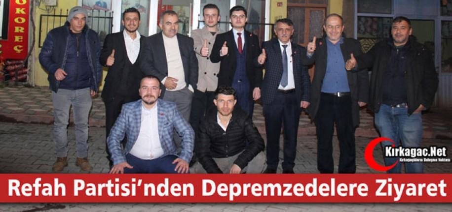 Y.REFAH PARTİSİ'NDEN DEPREMZEDELERE ZİYARET