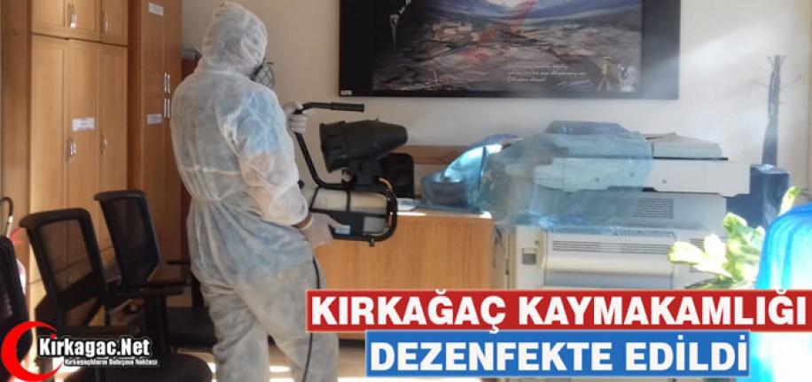 KAYMAKAMLIK BİNASI KORONAVİRÜS NEDENİYLE DEZENFEKTE EDİLDİ