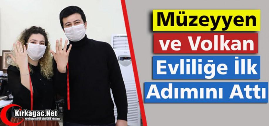 """MÜZEYYEN ve VOLKAN """"EVLİLİĞE İLK ADIMINI"""" ATTI"""