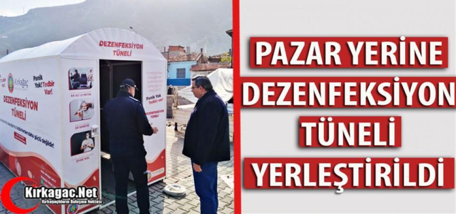PAZAR YERİNE DEZENFEKSİYON TÜNELİ