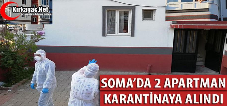 SOMA'DA 2 APARTMAN KARANTİNAYA ALINDI