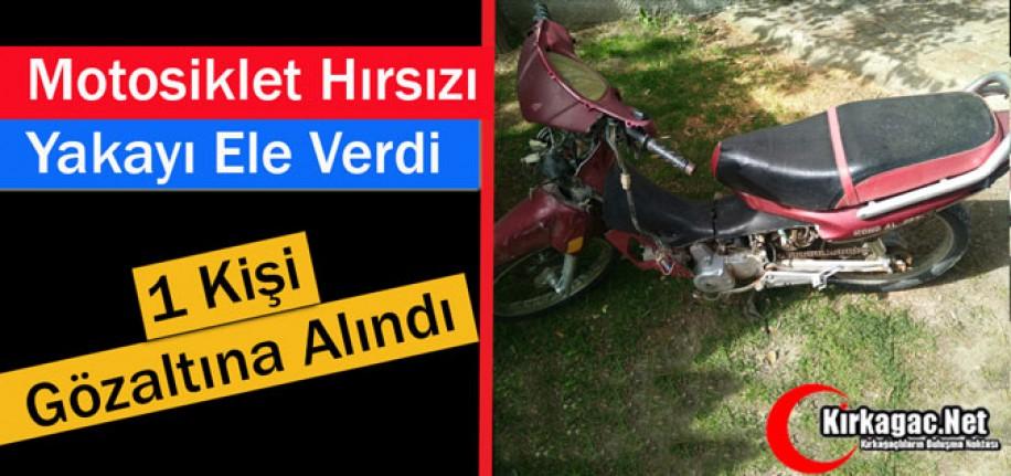 MOTOSİKLET HIRSIZI YAKAYI ELE VERDİ