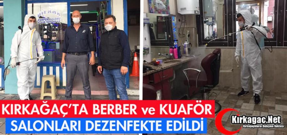 BERBER ve KUAFÖR SALONLARI DEZENFEKTE EDİLDİ