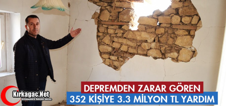 """DEPREMDE ZARAR GÖREN VATANDAŞLARA """"MADDİ YARDIMLARA"""" BAŞLANDI"""