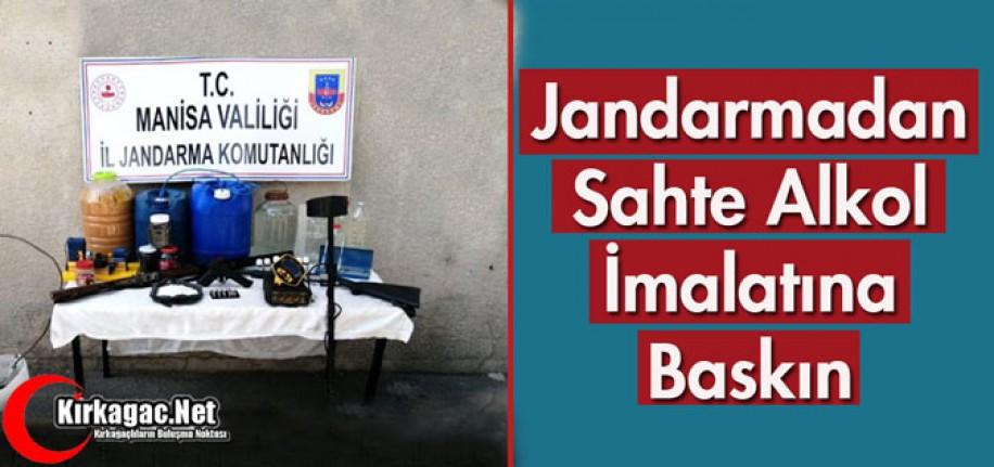 JANDARMADAN SAHTE ALKOL İMALATINA BASKIN