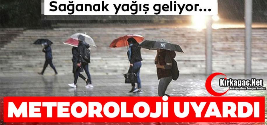 """METEOROLOJİ'DEN """"KUVVETLİ YAĞIŞ"""" UYARISI"""