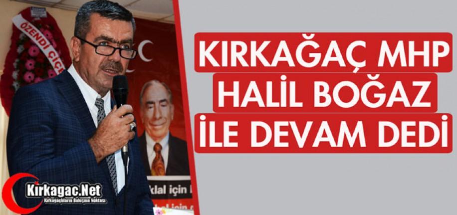 """KIRKAĞAÇ MHP """"BOĞAZ"""" İLE DEVAM DEDİ"""