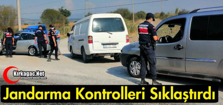 KIRKAĞAÇ'TA JANDARMA KONTROLLERİ SIKLAŞTIRDI