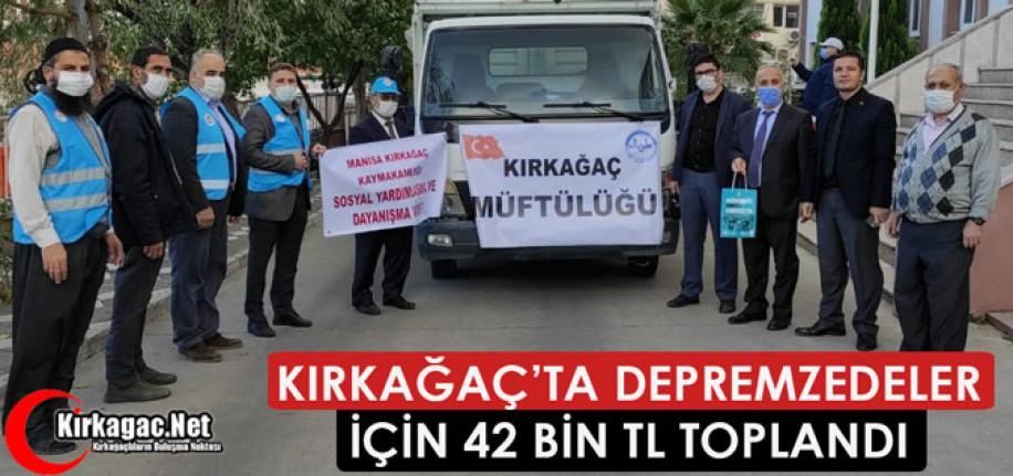 KIRKAĞAÇ'TA DEPREMZEDELER İÇİN 42 BİN TL TOPLANDI