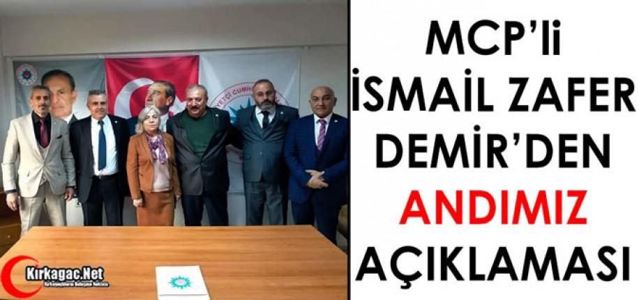 """MCP'Lİ DEMİR'DEN """"ANDIMIZ"""" AÇIKLAMASI"""