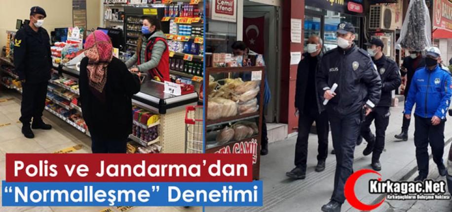 """POLİS ve JANDARMA'DAN """"NORMALLEŞME"""" DENETİMİ"""