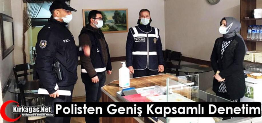 POLİSTEN KIRKAĞAÇ'TA GENİŞ KAPSAMLI DENETLEME