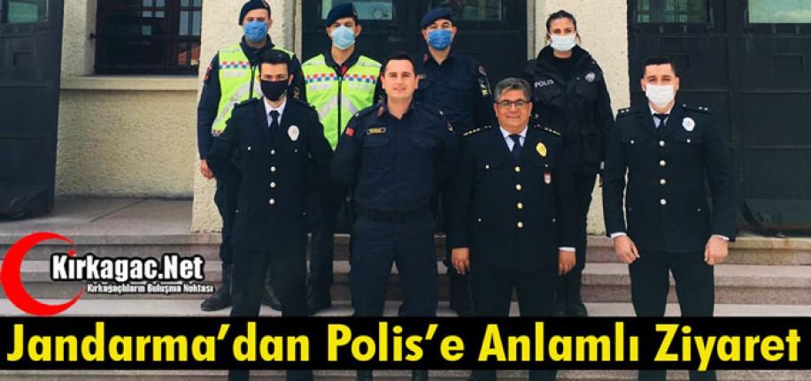 JANDARMA'DAN POLİSE ANLAMLI ZİYARET