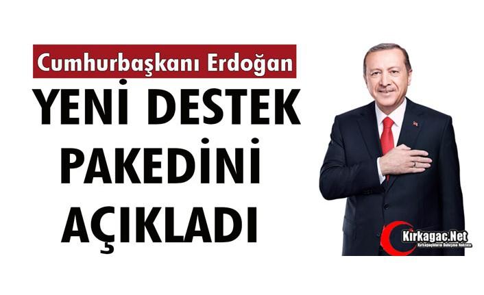 """CUMHURBAŞKANI ERDOĞAN """"YENİ DESTEK"""" PAKEDİNİ AÇIKLADI"""