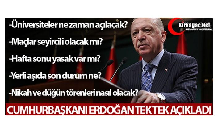 İŞTE ALINAN NORMALLEŞME KARARLARI
