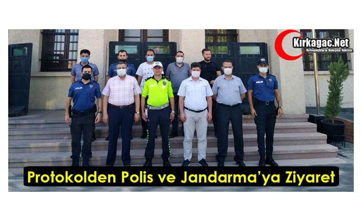 İLÇE PROTOKOLÜNDEN POLİS ve JANDARMAYA BAYRAM ZİYARETİ