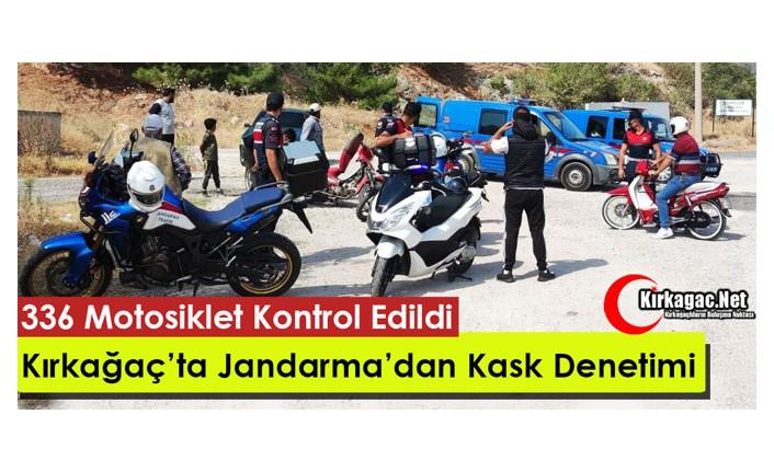 JANDARMA'DAN KIRKAĞAÇ'TA KASK DENETİMİ