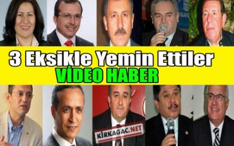 3 EKSİKLE YEMİN(VİDEO HABER)