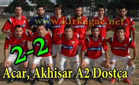 Acar,Akhisar A2 Dostça 2-2