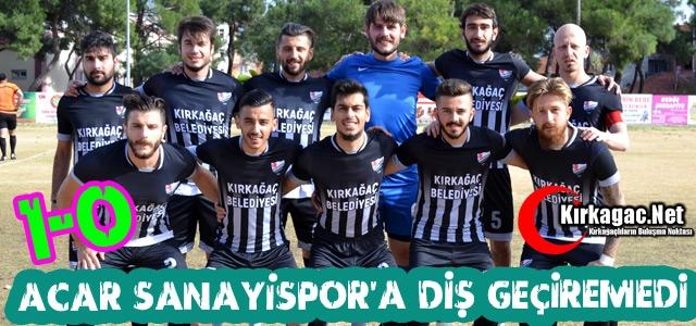 ACARİDMAN SANAYİSPOR'A DİŞ GEÇİREMEDİ 1-0