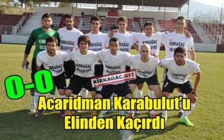 ACAR,KARABULUT'U ELİNDEN KAÇIRDI 0-0