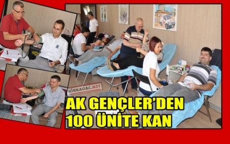 AK GENÇLER'DEN 100 ÜNİTE KAN