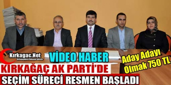 AK PARTİ'DE ADAY ADAYI OLMAK 750 TL(VİDEO)