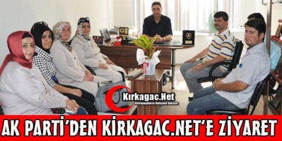 AK PARTİ'DEN KİRKAGAC.NET'E ZİYARET