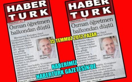 ALİ OSMAN ÖĞRETMEN VEFAT ETTİ(HABERTÜRK)