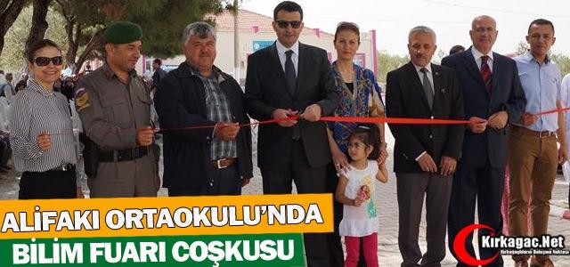"ALİFAKI ORTAOKULU'NDA 'BİLİM FUARI"" COŞKUSU"
