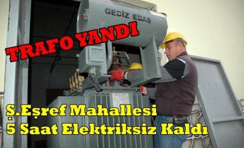 Ana Trafo Yandı Elektrikler 5 Saat Sonra Geldi