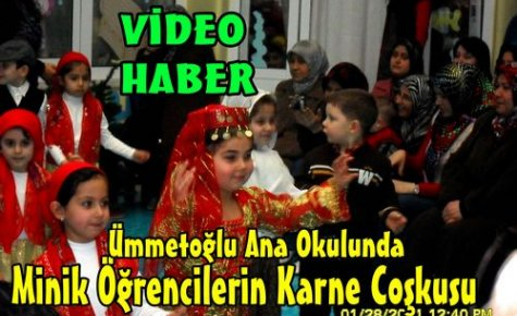Anaokulu Öğrencilerinin Karne Coşkusu(VİDEO)