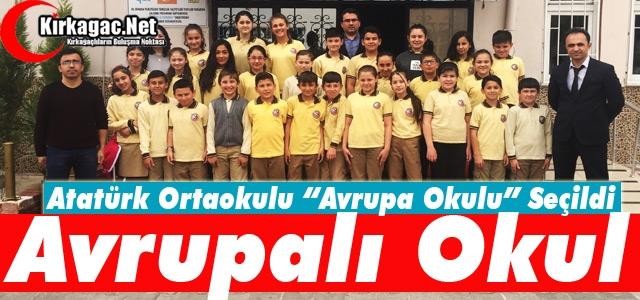 ATATÜRK ORTAOKULU 'TESCİLLİ AVRUPA OKULU' OLDU