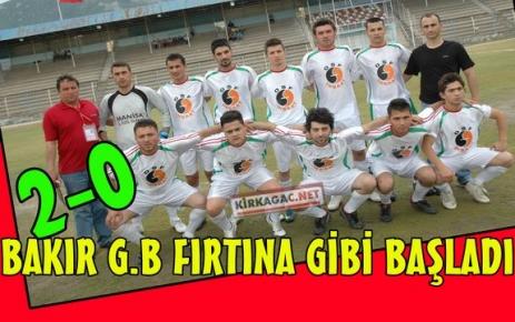 BAKIR G.B FIRTINA GİBİ BAŞLADI 2-0