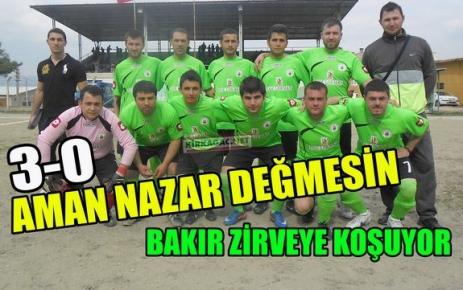 BAKIR G.BİRLİĞİ ZİRVEYE KOŞUYOR 3-0