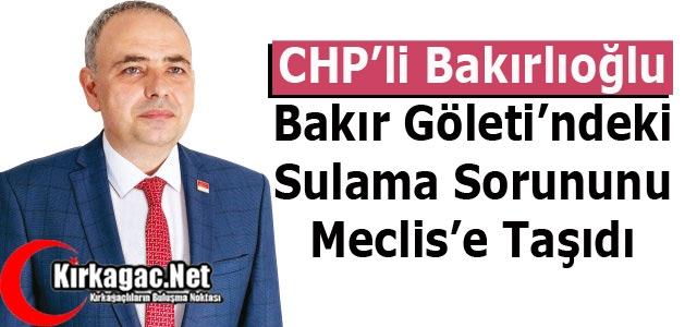 BAKIR GÖLETİ''NDEKİ SULAMA SORUNU MECLİS'E TAŞINDI