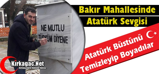 BAKIR MAHALLESİNDE ATATÜRK SEVGİSİ