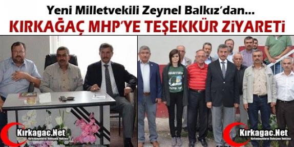 BALKIZ'DAN KIRKAĞAÇ'A TEŞEKKÜR ZİYARETİ