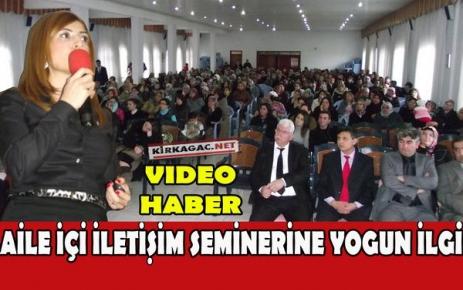 'BENİM AİLEM PROJESİ' SEMİNERİNE YOĞUN İLGİ(VİDEO)