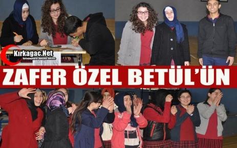 BİLGİ YARIŞMASINDA ZAFER ÖZEL BETÜL'ÜN