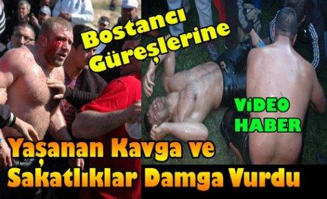 Bostancı Güreşlerine Damga Vuran Kavga(VİDEO)