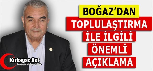 """BOĞAZ 'ÇİFTÇİLERİMİZ TOPLULAŞTIRMA ÇALIŞMALARINDAN ENDİŞELİ"""""""