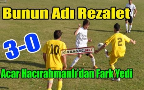 BUNUN ADI REZALET 3-0