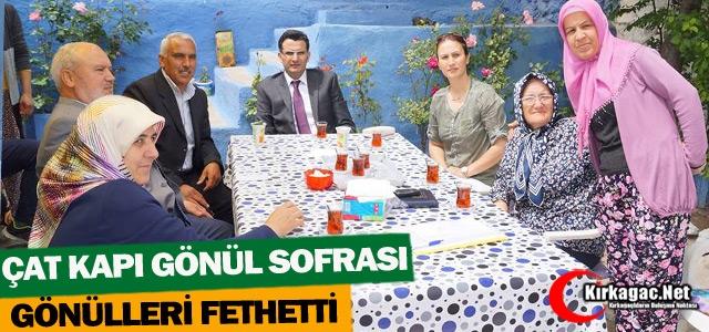 'ÇAT KAPI GÖNÜL SOFRASI' GÖNÜLLERİ FETHEDİYOR
