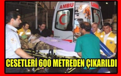 CESETLERİ 600 METREDE BULUNDU