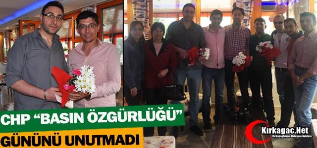 """CHP 'BASIN ÖZGÜRLÜĞÜ"""" GÜNÜNÜ UNUTMADI"""