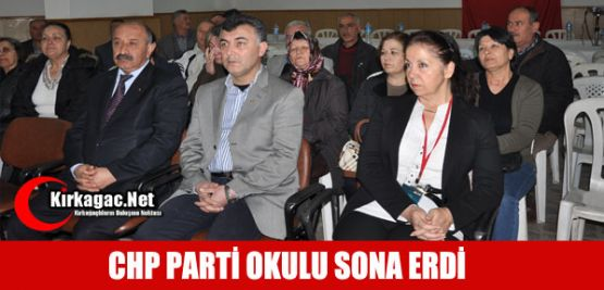 CHP PARTİ OKULU KIRKAĞAÇ'TA TAMAMLANDI